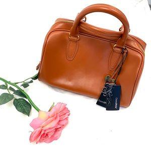 Cuore & Pelle leather cognac purse